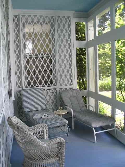 fresh paint - a screened porch